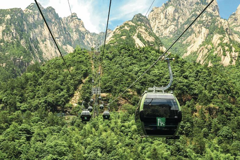 Télécabines débrayables Doppelmayr MGD_Huangshan_3
