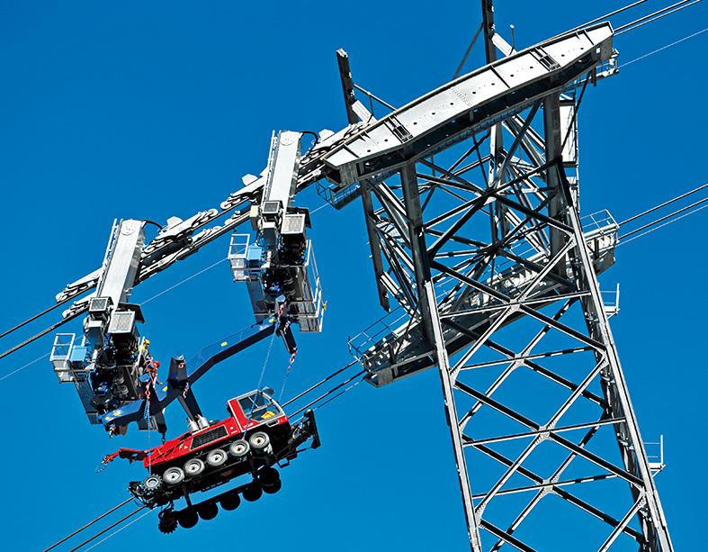 Transport de matériel et d'explosifs Doppelmayr MRW-Ochsentafeli